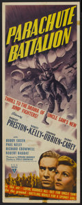 "Movie Posters:War, Parachute Battalion (RKO, 1941). Insert (14"" X 36""). War...."