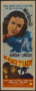 "Movie Posters:Mystery, No Place for a Lady (Columbia, 1943). Insert (14"" X 36"").Mystery...."