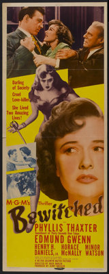 """Bewitched (MGM, 1945). Insert (14"""" X 36""""). Film Noir"""