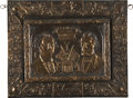 Political:3D & Other Display (pre-1896), Lincoln and Washington: An Unusual Circa 1890s Copper Shell Wall Piece. ...