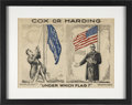 """Political:Posters & Broadsides (1896-present), Cox and Harding: Political Cartoon """"Under Which Flag"""", 1920Election...."""