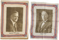 Political:Textile Display (1896-present), Al Smith and Herbert Hoover: Two Colorful Silk Handkerchiefs.... (Total: 2 Items)