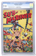 Golden Age (1938-1955):Superhero, Sub-Mariner Comics #9 (Timely, 1943) CGC VF- 7.5 Off-white to white pages....