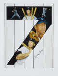 "Baseball Collectibles:Others, Mickey Mantle Signed ""Yankee 7"" Lithograph. ..."