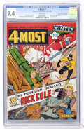 Golden Age (1938-1955):Superhero, 4Most V1#1 Mile High pedigree (Novelty Press, 1942) CGC NM 9.4 White pages....