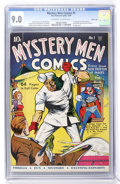 Golden Age (1938-1955):Superhero, Mystery Men Comics #1 Carson City pedigree (Fox, 1939) CGC VF/NM 9.0 Off-white to white pages....