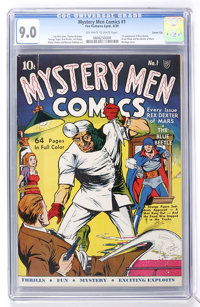 Mystery Men Comics #1 Carson City pedigree (Fox, 1939) CGC VF/NM 9.0 Off-white to white pages