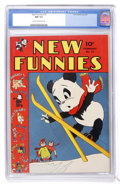 Golden Age (1938-1955):Cartoon Character, New Funnies #72 (Dell, 1943) CGC NM 9.4 Cream to off-white pages....