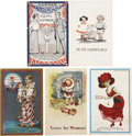 Political:Miscellaneous Political, Fabulous Lot of Five Suffragette Postcards.... (Total: 5 Items)