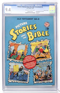 Picture Stories from the Bible Old Testament #2 Gaines File pedigree 3/12 (EC, 1946) CGC NM 9.4 Off-white to white pages...