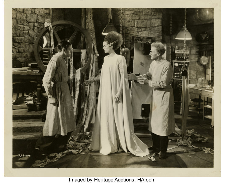 1935 THE BRIDE OF FRANKENSTEIN BLACK AND WHITE 8x10 classic PHOTO 3S !!!