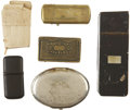 Military & Patriotic:Civil War, Six Civil War Era Match Containers, as follows:... (Total: 6 Items)