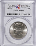 Kennedy Half Dollars, 2007-D 50C Satin Finish MS69 PCGS. PCGS Population (226/1).(#149533)...
