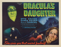 "Dracula's Daughter (Universal, 1936). Title Lobby Card (11"" X 14"")"