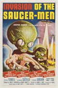 "Movie Posters:Science Fiction, Invasion of the Saucer-Men (American International, 1957). OneSheet (27"" X 41"")...."