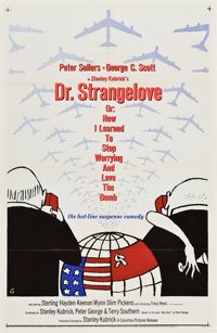 """Dr. Strangelove or: How I Learned to Stop Worrying and Love the Bomb (Columbia, 1964). One Sheet (27"""" X 41"""")..."""