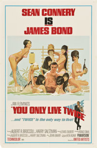 "You Only Live Twice (United Artists, 1967). One Sheet (27"" X 41"") Style C"