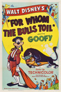 "Movie Posters:Animated, For Whom the Bulls Toil (RKO, 1953). One Sheet (27"" X 41"")...."