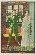 "Movie Posters:Drama, Homage (Universal, 1915). One Sheet (27"" X 41"")...."