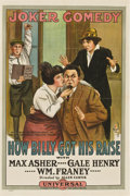 "Movie Posters:Comedy, How Billy Got His Raise (Universal, 1915). One Sheet (27"" X41"")...."