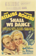 "Movie Posters:Musical, Shall We Dance (RKO, 1937). Window Card (14"" X 22"")...."