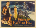 """Movie Posters:Horror, House on Haunted Hill (Allied Artists, 1959). Half Sheet (22"""" X 28"""")...."""