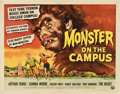 """Movie Posters:Horror, Monster on the Campus (Universal International, 1958). Half Sheet (22"""" X 28"""")...."""