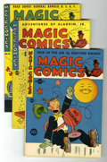 Golden Age (1938-1955):Miscellaneous, Magic Comics #43, 46, and 48 Group (David McKay Publications, 1943) Condition: Average FN/VF.... (Total: 3 Comic Books)