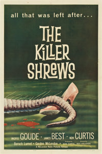 "The Killer Shrews (McLendon Radio Pictures, 1959). One Sheet (27"" X 41"")"