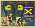 "Movie Posters:Science Fiction, X: The Man with the X-Ray Eyes (American International, 1963). HalfSheet (22"" X 28"").. ..."