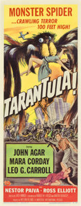"Movie Posters:Science Fiction, Tarantula (Universal International, 1955). Insert (14"" X 36"")...."