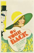 """Movie Posters:Drama, On Your Back (Fox, 1930). Window Card (14"""" X 22"""")...."""
