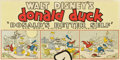 "Movie Posters:Animated, Donald's Better Self (RKO, 1938). Standee Title Placard (14"" X 28"")...."
