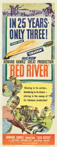 "Movie Posters:Western, Red River (United Artists, 1948). Insert (14"" X 36"")...."