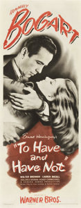 "Movie Posters:Romance, To Have and Have Not (Warner Brothers, 1944). Insert (14"" X 36"")...."