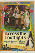"Movie Posters:Drama, Across the Footlights (Universal, 1915). One Sheet (27.5"" X41.25"")...."