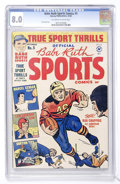 Golden Age (1938-1955):Non-Fiction, Babe Ruth Sports Comics #5 (Harvey, 1949) CGC VF 8.0 Off-white towhite pages....