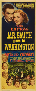 "Movie Posters:Drama, Mr. Smith Goes to Washington (Columbia, 1939). Insert (14"" X36"")...."