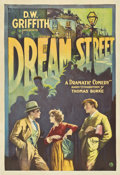 "Movie Posters:Drama, Dream Street (United Artists, 1921). One Sheet (28"" X 41"")...."
