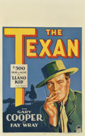 "Movie Posters:Western, The Texan (Paramount, 1930). Window Card (14"" X 22"")...."