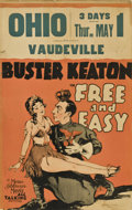 "Movie Posters:Comedy, Free and Easy (MGM, 1930). Window Card (14"" X 22"")...."