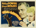 "Movie Posters:Comedy, Star of Midnight (RKO, 1935). Half Sheet (22"" X 28"")...."