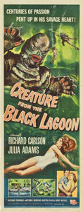 "Movie Posters:Horror, Creature From the Black Lagoon (Universal International, 1954). Insert (14"" X 36"")...."