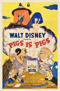 "Movie Posters:Animated, Pigs is Pigs (RKO, 1954). One Sheet (27"" X 41"")...."
