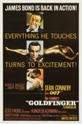 "Movie Posters:James Bond, Goldfinger (United Artists, 1964). One Sheet (27"" X 41"")...."