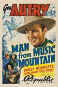 """Movie Posters:Western, The Man from Music Mountain (Republic, 1938). One Sheet (27"""" X 41"""")...."""