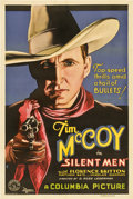 "Movie Posters:Western, Silent Men (Columbia, 1933). One Sheet (27"" X 41"")...."