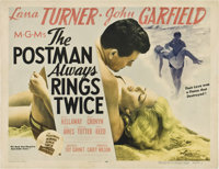 "The Postman Always Rings Twice (MGM, 1946). Half Sheet (22"" X 28"") Style B"