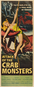 "Movie Posters:Science Fiction, Attack of the Crab Monsters (Allied Artists, 1957). Insert (14"" X36"")...."