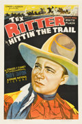 """Movie Posters:Western, Hittin' the Trail (Grand National, 1937). One Sheet (27"""" X 41"""")...."""